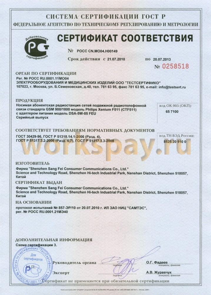 Отчет по преддипломной практике по товароведению на базе  Сертификат соответствия